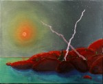Georgian Bay - Blood Moon above Georgian Bay - (SOLD)