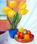 Yellow tulips, fruits and a deadly threat