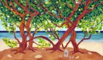Shade under the Sea-Grape tree - detail (SOLD)