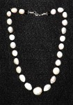 Large Pearl choker with Onix